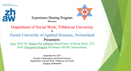 Experience sharing between Dept of social work TU and department of social worek, Zurich University of applied sciences.
